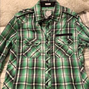 BKE green button up